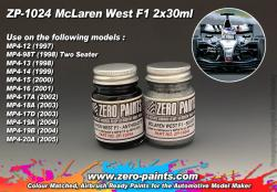 McLaren West F1 (MP4/13 to MP4/20A) Paints 2x30ml