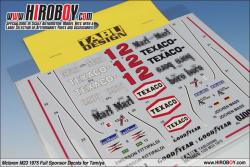1:20 Mclaren M23 1975 Full Sponsor Decals for Tamiya