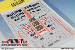1:20 Mclaren M23 1978 Sponsor Decals for Tamiya