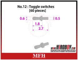 Metal Rivets Series No.12 : Toggle switches [60 pieces] P1028