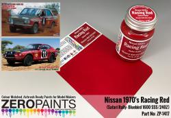 Racing Red Nissan 1970's  Safari Rally Bluebird 1600 SSS/240Z Paint 60ml