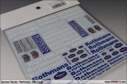 Sponsor Decals - Assorted Rothmans - Size Large