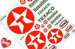 Texaco Sponsor Decals (Various Scales)