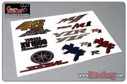 Yamaha (A) Full Colour Metal Transfers