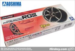 "1:24 19"" Advan Racing RGIII Wheels and Tyres"