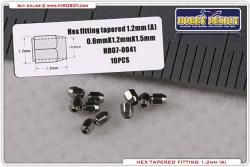 Hex Tapered Fittings 1.2mm (A) 10 pcs