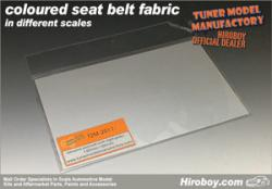 1:20/1:24 Scale ADHESIVE backed Seatbelt/Harness Fabric LIGHT GREY