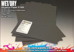 Wet and Dry Abrasive Paper #1500 - 4 off