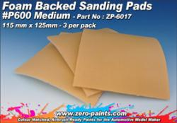 MEDIUM Foam Backed Sanding Pads P600 (x3)