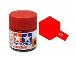Tamiya Acrylic Mini X-7 Red (Gloss) - 10ml Jar