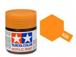 Tamiya Acrylic Mini X-26 Clear Orange (Gloss) - 10ml Jar