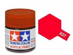 Tamiya Acrylic Mini X-27 Clear Red (Gloss) - 10ml Jar
