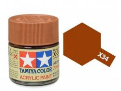 Tamiya Acrylic Mini X-34 Metal. Brown (Gloss) - 10ml Jar