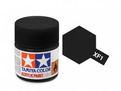 Tamiya Acrylic Mini XF-1 Flat Black - 10ml Jar