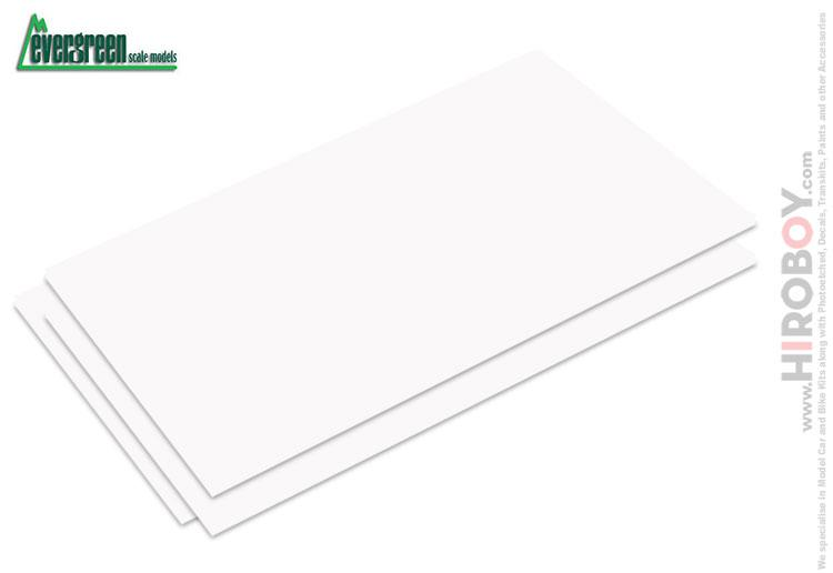 0.13mm Thick White Styrene / Plastic Card Sheet x3