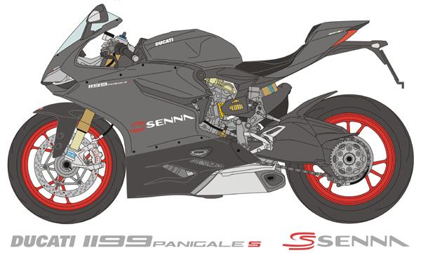 1:12 Ducati 1199 Panigale S Senna Decals for Tamiya