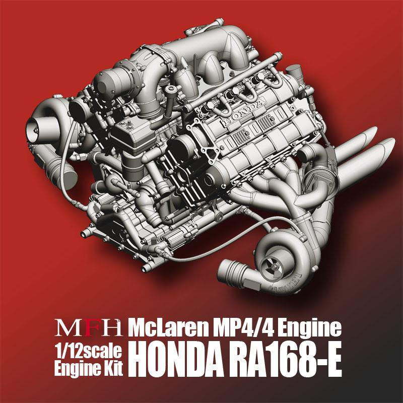 1:12 Mclaren MP4/4 Engine Kit Honda RA168-E