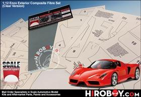 1:12 Ferrari Enzo Exterior Composite Fiber Set (Clear Version)