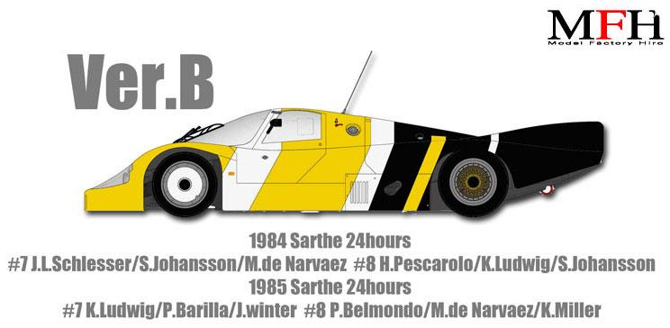 1:12 Porsche 956 Ver.B 1984/1985 Sarthe 24hours race #7 Newman Multi Media Kit