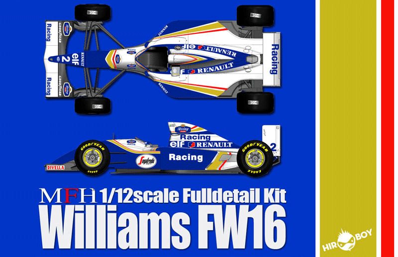 1:12 Williams FW16 Full Detail Kit - Ver B 1994 Rd.2 Pacific GP