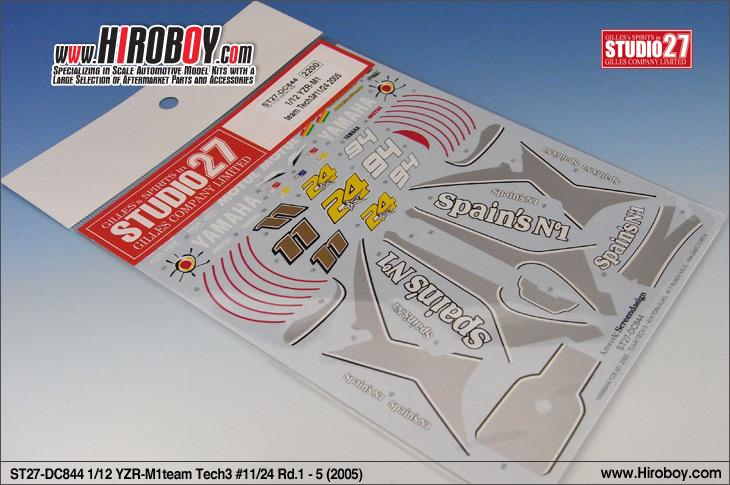 1:12 Yamaha YZR-M1 Tech3 #11/24 (2005) Decals