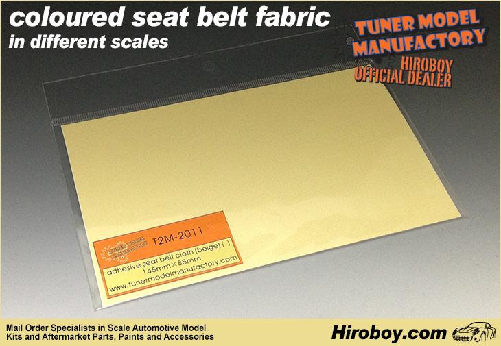 1:20/1:24 Scale ADHESIVE backed Seatbelt/Harness Fabric BEIGE