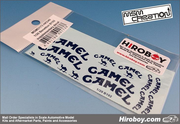 1:20 Benetton B192 Sponsor Decal (Camel) for Tamiya
