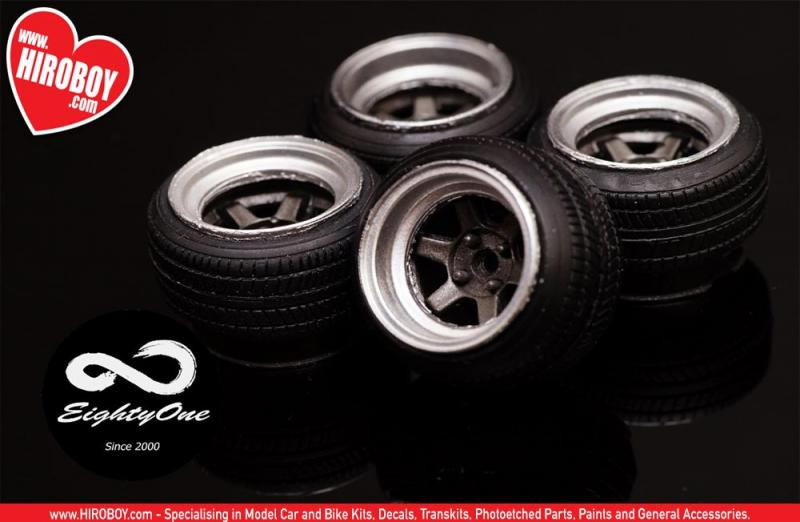 "1:24 17"" Rays TE37V Wheels and Tyres"
