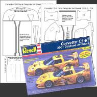 1:24 Corvette C5-R Carbon Fiber Template Set #7110
