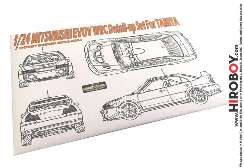 1:24 Mitsubishi Evo V WRC Photoetch Detail-Up Set for Tamiya