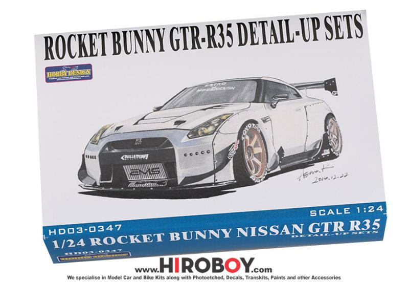 1:24 Rocket Bunny Nissan GT-R R35 Photoetched/Resin/Decals Detailing Set