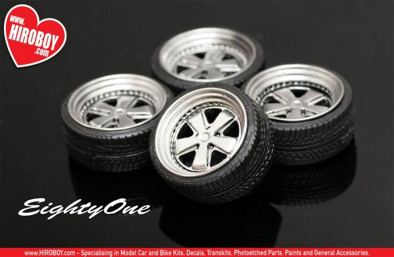 "1:24 19"" Rotiform FUC Wheels and Tyres"