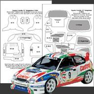 1:24 Toyota Corolla WRC Composite Fiber Decal Template Set