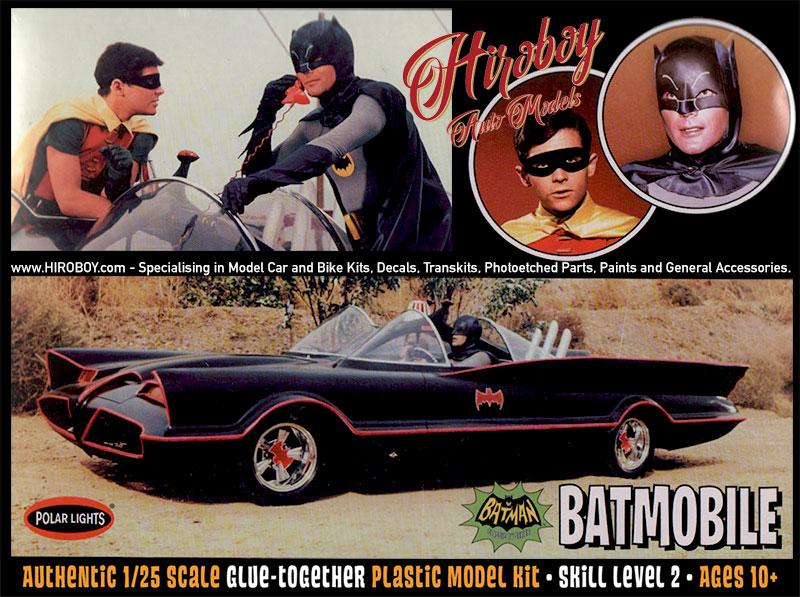 1:25 1966 Batmobile with Batman and Robin Figures - Model Kit