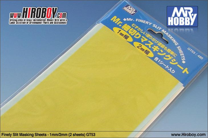 Finely Slit Masking Sheets - 1mm/2mm (2 sheets) GT53