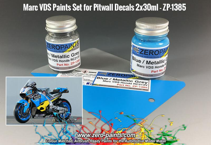 Marc VDS Honda RC213V - Blue/Metallic Grey Paint Set 2x30ml