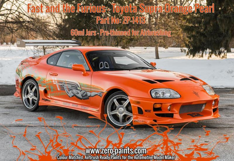Fast and the Furious Toyota Supra Orange Pearl Paint 60ml