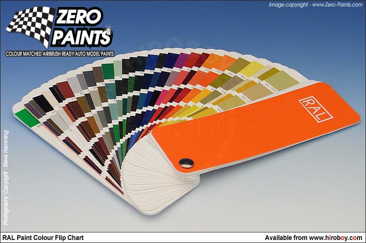 RAL Paints Fan Chart (European Colour Range)