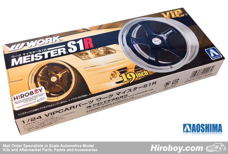 "1:24 Work Meister S1R 19"" VIP Wheel and Tyre Set #93"