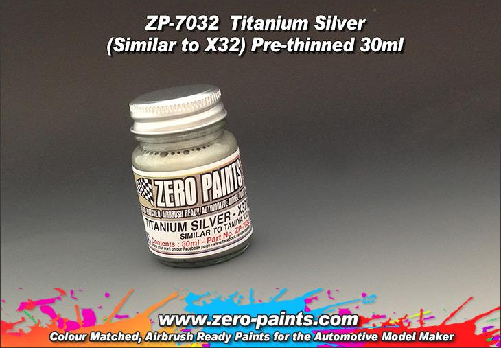 Titanium Silver Paint 30ml - Similar to Tamiya X32