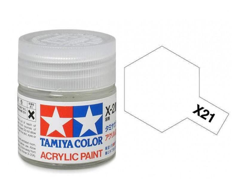 Tamiya Acrylic Mini X-21 Flat Base - 10ml Jar