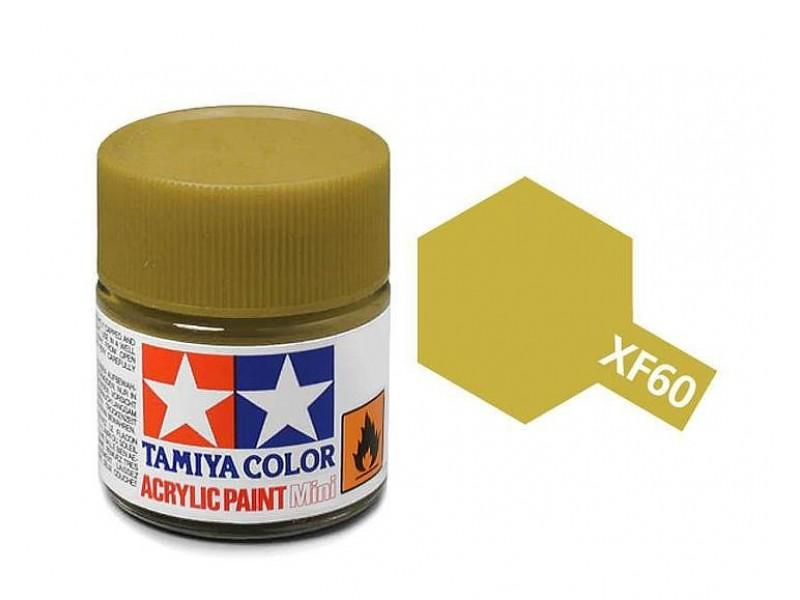 Tamiya Acrylic Mini XF-60 Dark Yellow - 10ml Jar
