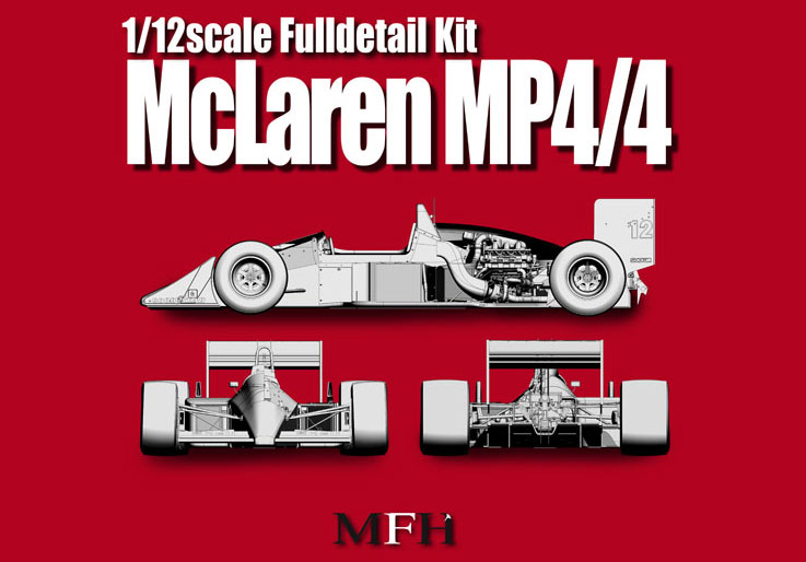 1 12 Mclaren Mp4 4 Ver A Full Detail Multi Media Model Kit