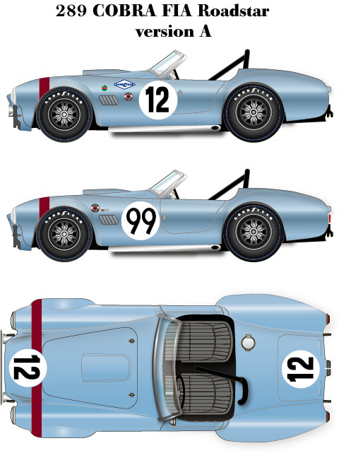 1 24 ac cobra 289 fia roadster vera multi media model kit
