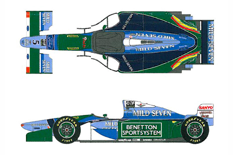 24 Benetton Ford B194 Decals Revell  SHKD181  Shunko Models