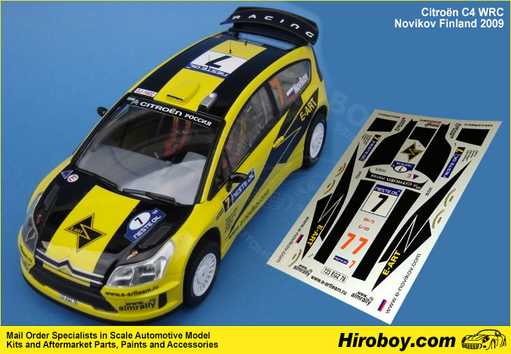1 24 citroen c4 wrc rallye de finlande 2009 e novikov decals heller re renaissance. Black Bedroom Furniture Sets. Home Design Ideas