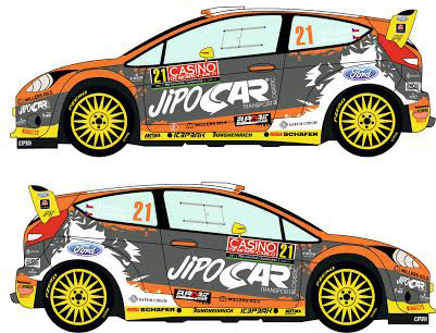 Ford Racing Decal 1:24 Ford Fiesta WRC #21 Rally Montecarlo 2014 Decals ...