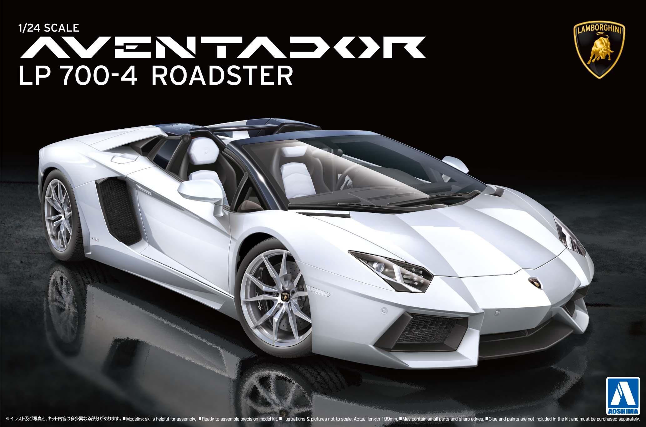 Lamborghini Aventador Roadster Price >> 1:24 Lamborghini Aventador LP 700-4 Roadster   AOS-008652   Aoshima