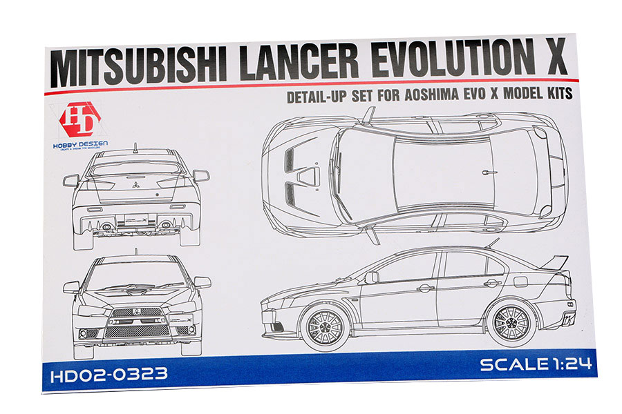 124 mitsubishi lancer evolution x detail up set aoshima hd02 0323 hobby design