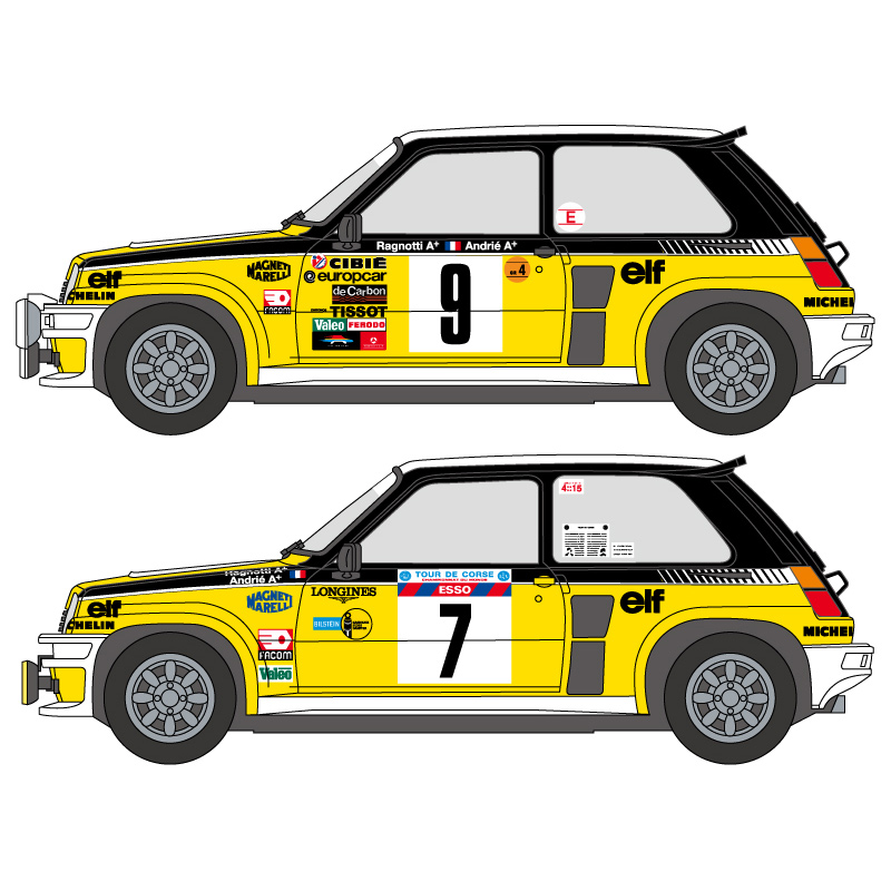 Renault 5 Turbo: 1:24 Renault 5 Turbo 1981-82 Decals (Tamiya)